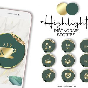 Green and Gold instagram cover
