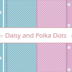 polka dots paper digital pattern