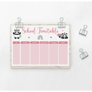 school timetable pandacorn mjdolado