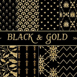 black & gold paper scrap