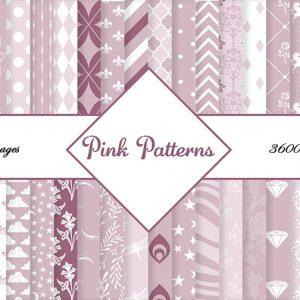 pink patterns scrapbook