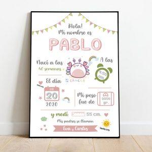 lamina estadisticas nacimiento bebe niño zodiaco 1