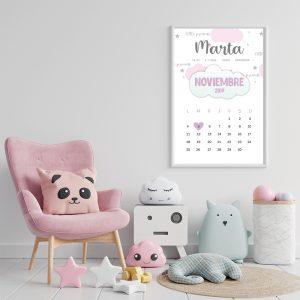 lamina nacimiento calendario princesa